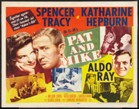 """Pat and Mike (MGM, 1952). Half Sheet (22"""" X 28"""") Style B. Comedy"""