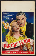 """Movie Posters:Drama, Paradis Perdu Lot (Concordia Films, R-1950s). Belgian Posters (2) (14"""" X 21.75"""") and (14.5"""" X 20.5""""). Drama.. ... (Total: 2 Items)"""