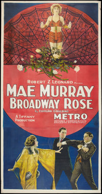"Broadway Rose (Metro, 1922). Three Sheet (41"" X 81""). Romance"