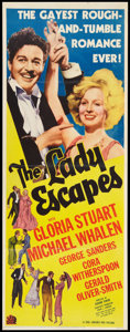 "Movie Posters:Comedy, The Lady Escapes (20th Century Fox, 1937). Insert (14"" X 36"").Comedy.. ..."