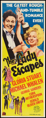 "The Lady Escapes (20th Century Fox, 1937). Insert (14"" X 36""). Comedy"