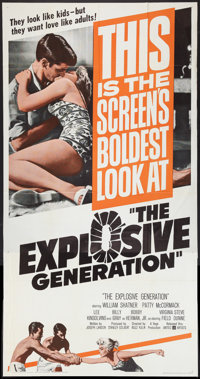 "The Explosive Generation (United Artists, 1961). Three Sheet (41"" X 81""). Drama"