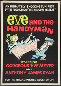 "Eve and the Handyman (Pad-Ram Enterprises, 1961). One Sheet (30"" X 42""). Adult"