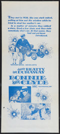 """Movie Posters:Crime, Bonnie and Clyde (Warner Brothers-Seven Arts, 1967). Australian Daybill (13"""" X 30""""). Crime.. ..."""