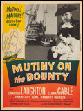 """Movie Posters:Adventure, Mutiny on the Bounty (MGM, R-1957). Poster (30"""" X 40""""). Adventure....."""