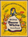 "Movie Posters:Animation, Snow White and the Seven Dwarfs (Buena Vista, R-1958). Poster (30""X 40""). Animation.. ..."