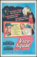 "Movie Posters:Crime, Vice Squad (United Artists, 1953). One Sheet (27"" X 41""). Crime....."