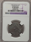 Colonials: , 1788 COPPER Connecticut Copper, Draped Bust Left--Corrosion--NGCDetails. VF. NGC Census: (1/7). PCGS Population (5/34). ...
