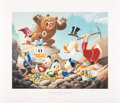 Original Comic Art:Miscellaneous, Carl Barks Trespassers Will Be Ventilated Regular EditionLithograph #77/345 (Another Rainbow, 1987).... (Total: 2 Items)
