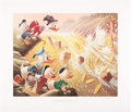 Original Comic Art:Miscellaneous, Carl Barks Dam Disaster at Money Lake Regular EditionLithograph #77/345 (Another Rainbow, 1986).... (Total: 2 Items)
