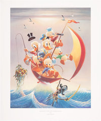 Carl Barks Sailing the Spanish Main Lithograph #4/245 (Another Rainbow, 1982).... (Total: 2 Items)