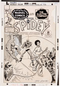 Original Comic Art:Covers, John Romita Sr. Spidey Super Stories #5 Cover Original Art(Marvel, 1975)....