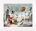 Original Comic Art:Miscellaneous, Carl Barks Dubious Doings at Dismal Downs Regular EditionLithograph #77/345 (Another Rainbow, 1986).... (Total: 2 Items)