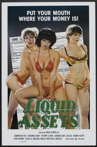 "Liquid A$$ets Lot (Sendy, 1982). One Sheets (5) (27"" X 41"") Flat-Folded. Adult. ... (Total: 5 Items)"