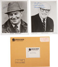 Football Collectibles:Photos, Paul Brown and George Halas Signed Photographs Lot of 2....