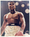 Boxing Collectibles:Autographs, 1987 Muhammad Ali Signed and Inscribed Photograph....