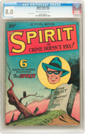 Golden Age (1938-1955):Crime, The Spirit #nn (#2) (Quality, 1945) CGC VF 8.0 Cream to off-white pages....