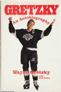 Hockey Collectibles:Publications, Wayne Gretzky Signed Autobiography Hardcover Book....
