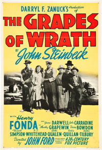"The Grapes of Wrath (20th Century Fox, 1940). One Sheet (27"" X 41"") Style A"
