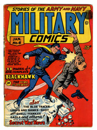 Military Comics #6 (Quality, 1942) Condition: GD/VG