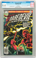 Modern Age (1980-Present):Superhero, Daredevil #168 Western Penn pedigree (Marvel, 1981) CGC NM 9.4White pages....