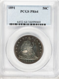 Proof Seated Half Dollars, 1891 50C PR64 PCGS....