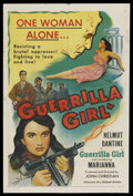 "Movie Posters:War, Guerrilla Girl (United Artists, 1953). One Sheet (27"" X 41""). WarDrama. ..."