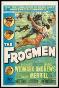 "Movie Posters:War, The Frogmen (20th Century Fox, 1951). One Sheet (27"" X 41""). War.Starring Richard Widmark, Dana Andrews, Gary Merrill, Jeff..."