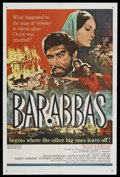 "Movie Posters:Adventure, Barabbas (Columbia, 1962). One Sheet (27"" X 41""). Adventure.Starring Anthony Quinn, Silvana Mangano, Arthur Kennedy, Katy J..."