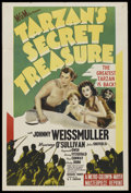 "Movie Posters:Adventure, Tarzan's Secret Treasure (MGM, R-1940s). One Sheet (27"" X 41"").Adventure. ..."