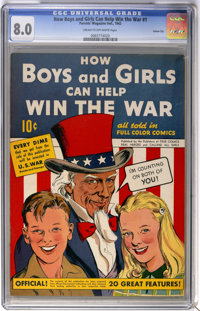 How Boys and Girls Can Help Win the War #1 Carson City pedigree (Parents' Magazine Institute, 1942) CGC VF 8.0 Cream to...