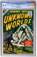 Golden Age (1938-1955):Horror, Journey Into Unknown Worlds #40 White Mountain pedigree (Atlas,1955) CGC VF 8.0 White pages....