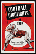 """Movie Posters:Sports, Football Highlights of 1967 (Universal, 1967). One Sheet (27"""" X 41""""). Sports...."""