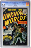 Golden Age (1938-1955):Science Fiction, Journey Into Unknown Worlds #42 (Atlas, 1956) CGC VF+ 8.5 Whitepages....