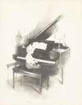 Prints:Contemporary, MARGERY AUSTEN RYERSON (American, 1886-1989). Young Boy at thePiano. Lithograph. 11-1/2in. x 9-1/2in.. Signed in pencil...(Total: 1 Item)