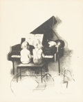 Prints:Contemporary, MARGERY AUSTEN RYERSON (American, 1886-1989). Children at thePiano. Lithograph. 11-1/2in. x 9-1/2in.. Signed in pencil ...(Total: 1 Item)