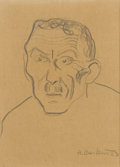 Fine Art - Painting, European:Modern  (1900 1949)  , HENRYK BERLWEI (Polish, 1894-1967). Portrait Study, 1923.Graphite on paper. 12-1/2in. x 9in.. Signed and dated at lower...(Total: 1 Item)