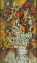Fine Art - Painting, European:Other , PIERRE EUGENE DUTEURTRE (French, b. 1911). Still Life with Flowers. Oil on canvas. 21in. x 12-1/2in.. Signed at lower le... (Total: 1 Item)