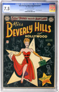 Golden Age (1938-1955):Romance, Miss Beverly Hills of Hollywood #1 (DC, 1949) CGC VF- 7.5 Off-whiteto white pages....