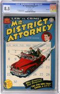 Golden Age (1938-1955):Crime, Mr. District Attorney #1 Carson City pedigree (DC, 1948) CGC VF+ 8.5 White pages....