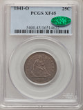 Seated Quarters: , 1841-O 25C XF45 PCGS. CAC. PCGS Population (3/52). NGC Census:(3/50). Mintage: 452,000. Numismedia Wsl. Price for problem ...