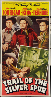 """Trail of the Silver Spur (Monogram, 1941). Three Sheet (41"""" X 81""""). Western"""