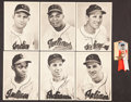 Baseball Collectibles:Others, 1948 Cleveland Indians Picture Pack of 30, With Lou Boudreau WorldSeries Pinback Button....