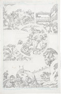 Original Comic Art:Panel Pages, Jack Kirby Super Powers #5 Batman and Robin page 15 PencilsOriginal Art (DC, 1986)....