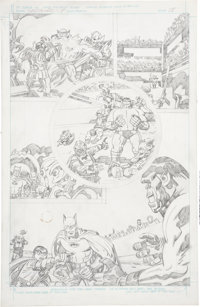 Jack Kirby Super Powers #5 Batman and Robin page 15 Pencils Original Art (DC, 1986)
