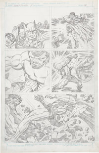 Jack Kirby Super Powers #5 Batman and Robin page 16 Pencils Original Art (DC, 1986)