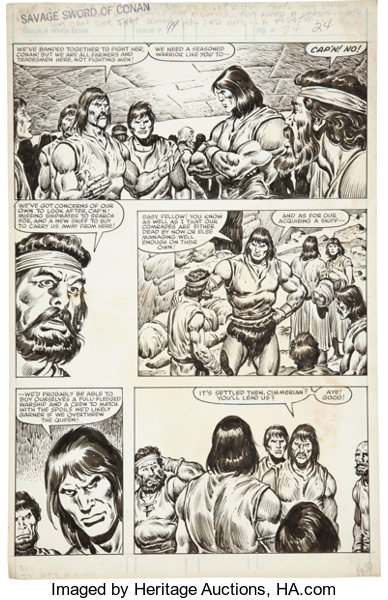 Original Comic ArtPanel Pages John Buscema And Ernie Chan The Savage Sword Of