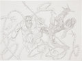 Original Comic Art:Sketches, Erik Larsen Spider-Man vs. Doctor Octopus Sketch Original Art (undated)....