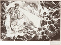 Original Comic Art:Miscellaneous, Ray Lago Cyclops Marvel Card Preliminary IllustrationOriginal Art (undated)....