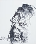Original Comic Art:Sketches, Bernie Wrightson Swamp Thing Ink Drawing Original Art (1999)....